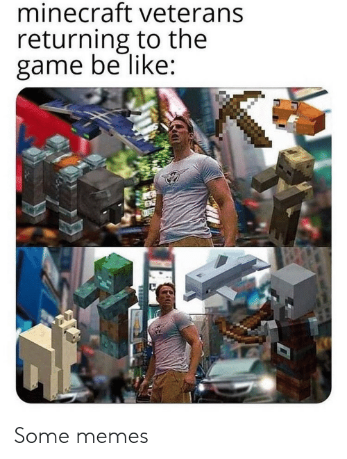 Returning: minecraft veterans  returning to the  game be like: Some memes