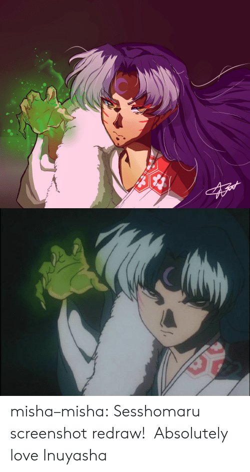 Love, Target, and Tumblr: misha–misha: Sesshomaru screenshot redraw!  Absolutely love Inuyasha