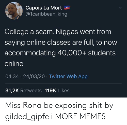 miss: Miss Rona be exposing shit by gilded_gipfeli MORE MEMES
