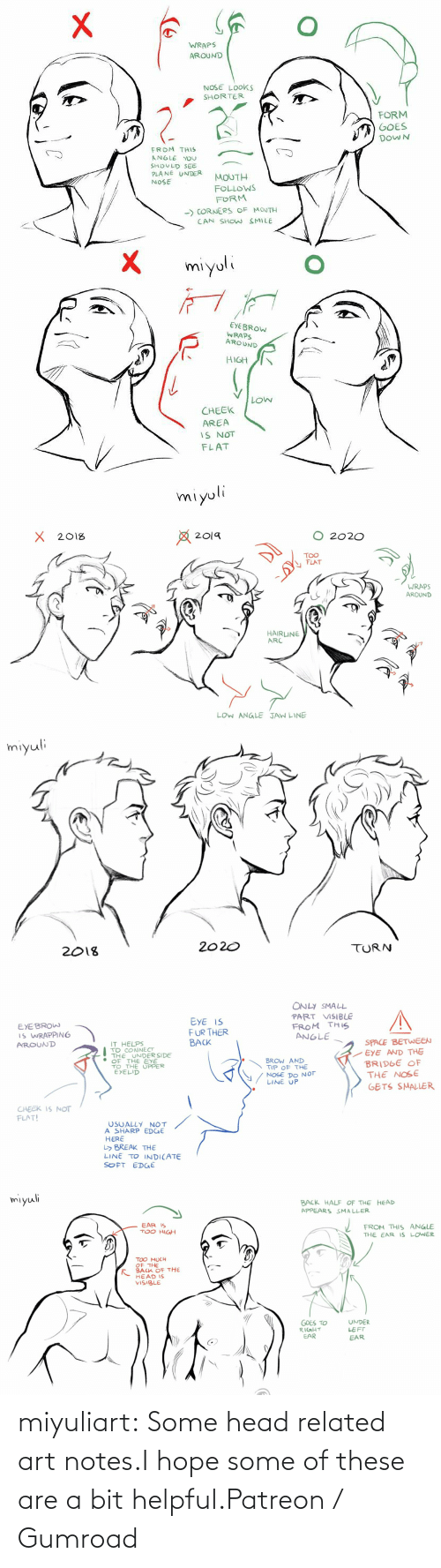 I Hope: miyuliart: Some head related art notes.I hope some of these are a bit helpful.Patreon / Gumroad