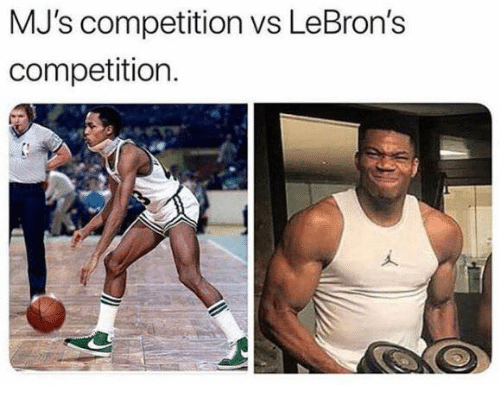 Lebrons: MJ's competition vs LeBron's  competition.