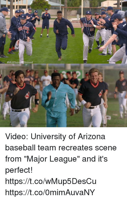 """university of arizona:  #MLBTrainiA Ground Video: University of Arizona baseball team recreates scene from """"Major League"""" and it's perfect! https://t.co/wMup5DesCu https://t.co/0mimAuvaNY"""