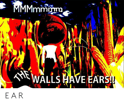 ears: MMMmmmm  THE  WALLS HAVE EARS! E A R