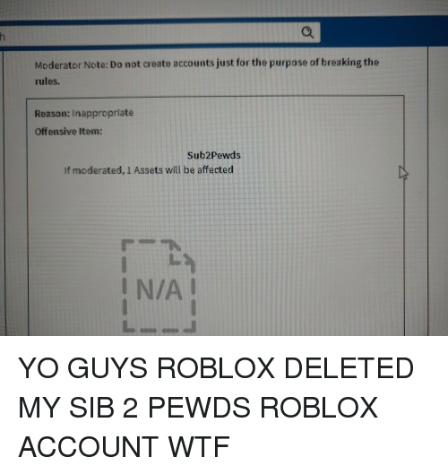 Moderator Note Do Not Create Accounts Just For The Purpose Of