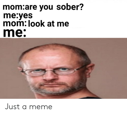 Meme, Sober, and Dank Memes: mom:are you sober?  me:yes  mom: look at me  me: Just a meme