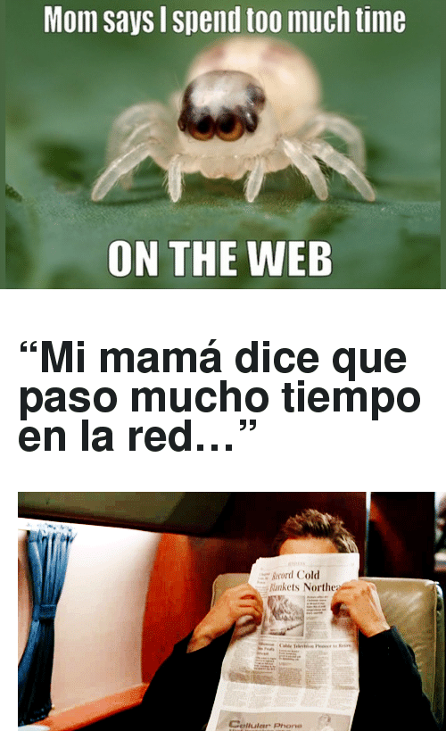 """Reactiongifs: Mom says Spend too much time  ON THE WEB <h2>&ldquo;Mi mamá dice que paso mucho tiempo en la red&hellip;&rdquo;</h2> <p><img alt="""""""" src=""""http://www.reactiongifs.com/wp-content/uploads/2013/06/crushed.gif""""/></p>"""
