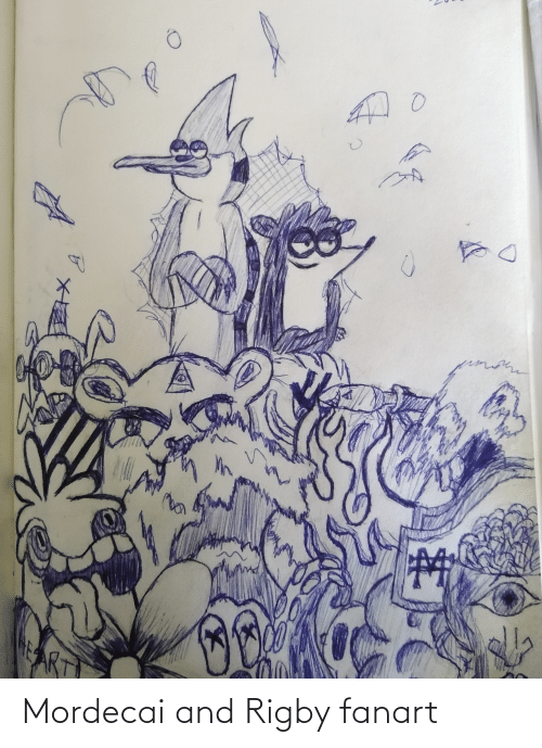 rigby: Mordecai and Rigby fanart