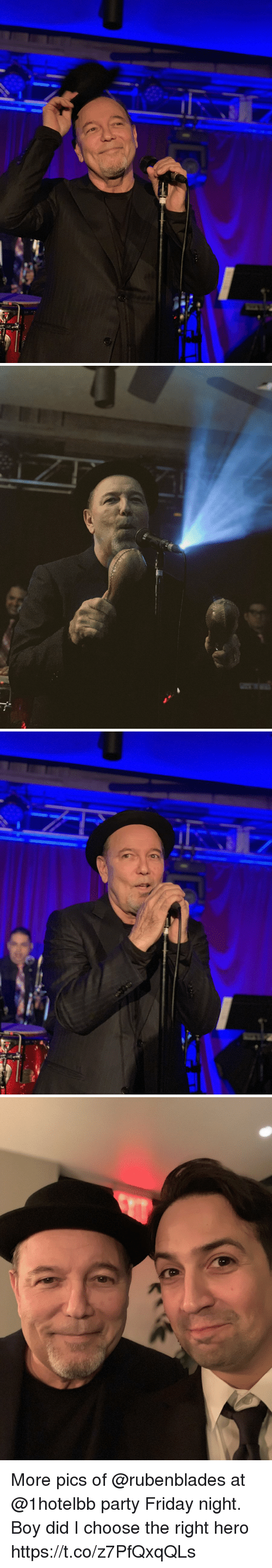 Friday, Memes, and Party: More pics of @rubenblades at @1hotelbb party Friday night. Boy did I choose the right hero https://t.co/z7PfQxqQLs