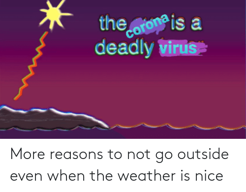 The Weather: More reasons to not go outside even when the weather is nice
