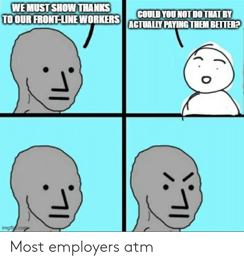 atm: Most employers atm