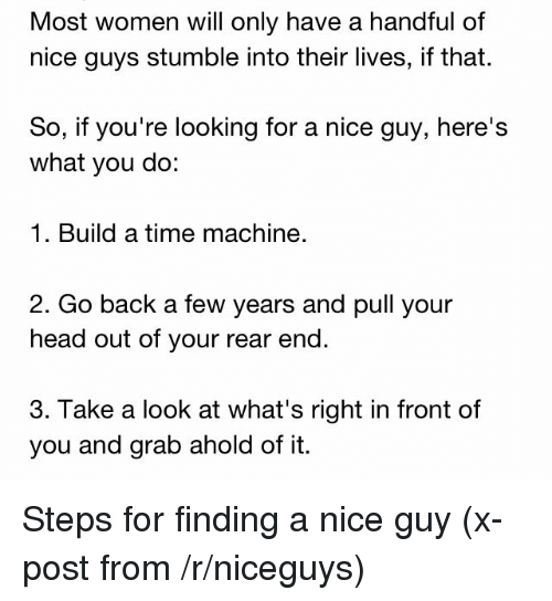 Finding a nice guy