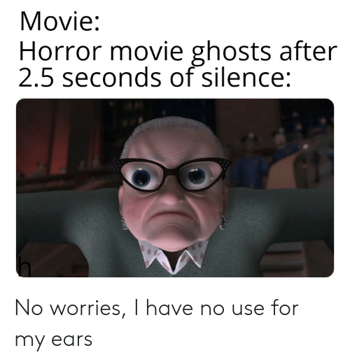 Movie Horror Movie Ghosts After 25 Seconds of Silence No