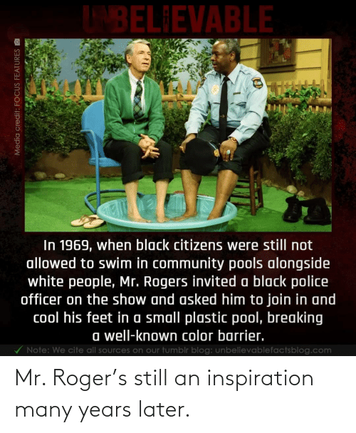 Roger: Mr. Roger's still an inspiration many years later.