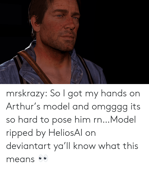 Arthur, Target, and Tumblr: mrskrazy:  So I got my hands on Arthur's model and omgggg its so hard to pose him rn…Model ripped by HeliosAI on deviantart  ya'll know what this means 👀