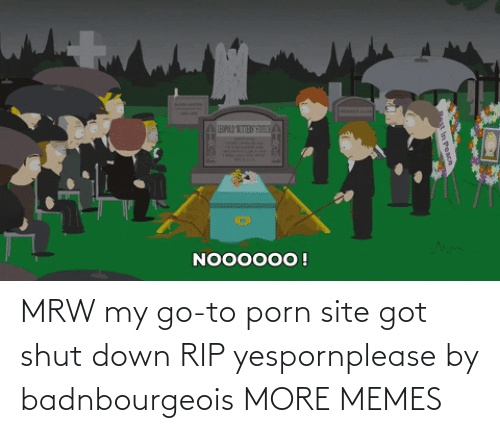 rip: MRW my go-to porn site got shut down RIP yespornplease by badnbourgeois MORE MEMES