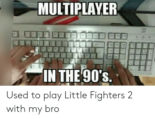 My Bro: MULTIPLAYER  IN THE 90's.  31 Used to play Little Fighters 2 with my bro