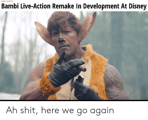 Bambi, Disney, and Live: MUMEI MUYIEa  Bambi Live-Action Remake In Development At Disney Ah shit, here we go again