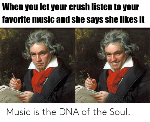 dna: Music is the DNA of the Soul.