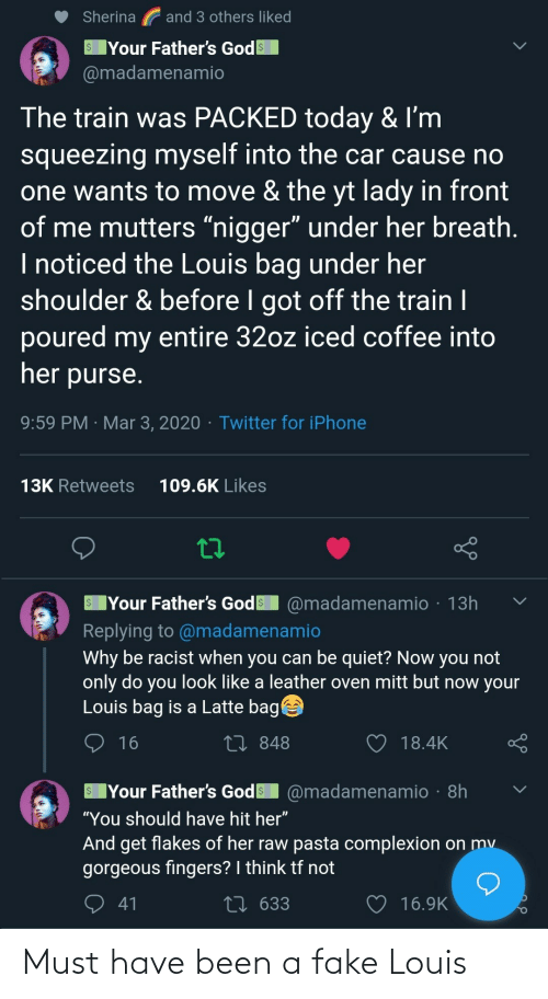 must have: Must have been a fake Louis