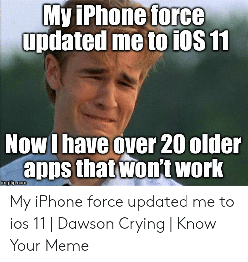 MviPhoneforce Updated Me to iOS 11 Now I Have Over 20 Older Apps