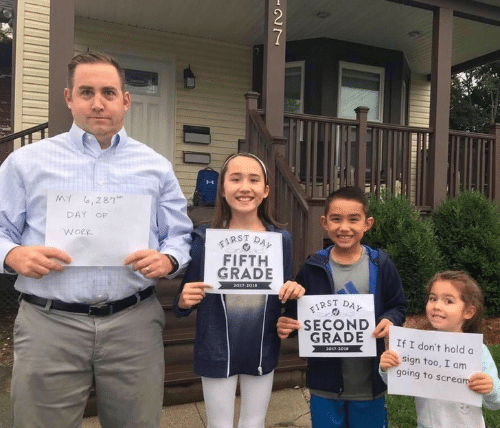 """Scream, Work, and Day: MY ,287""""  DAY  OF  FIRST  FIFTH  GRADE  WORK  DAY  2017-2018  FIRST  SECOND  GRADE  DAY  If I don't hold a  2017-3018  sign too, I am  going to scream  NN"""