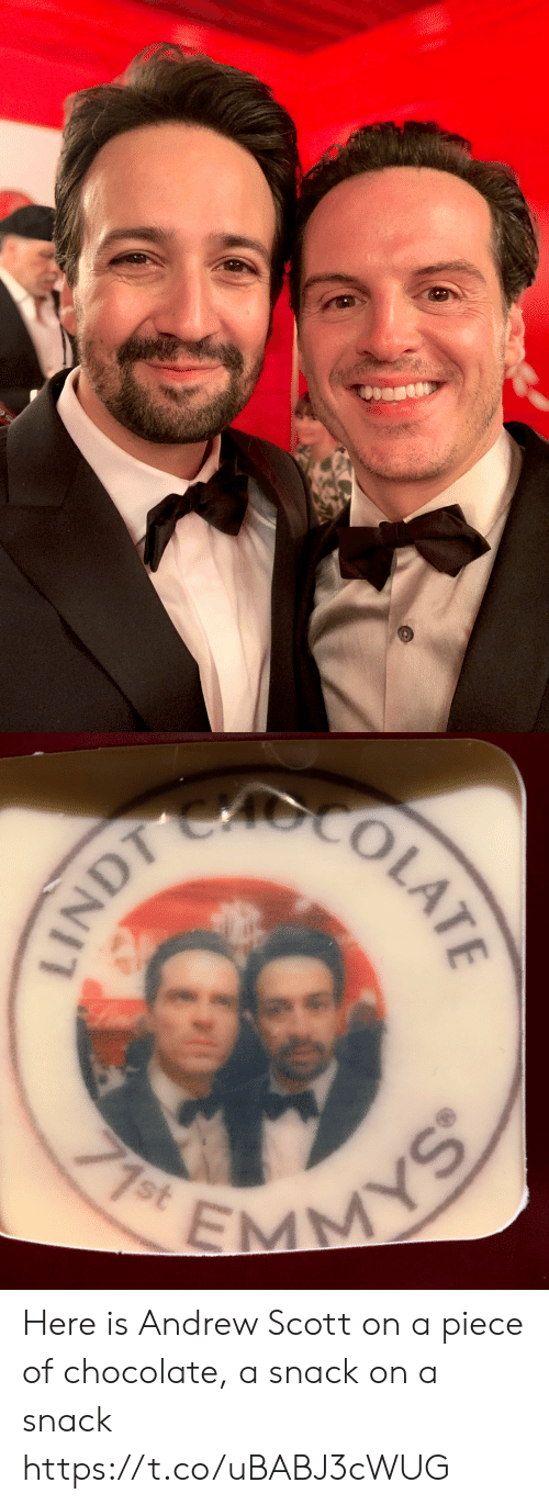 andrew: MY  71st  INDT COLATE Here is Andrew Scott on a piece of chocolate, a snack on a snack https://t.co/uBABJ3cWUG