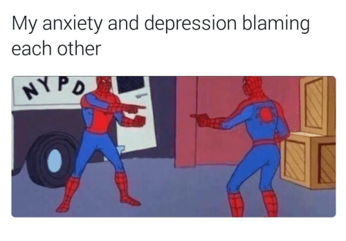 Anxiety, Depression, and Each Other: My anxiety and depression blaming  each other