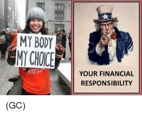 Memes, Responsibility, and 🤖: MY BODY  YOUR FINANCIAL  RESPONSIBILITY (GC)