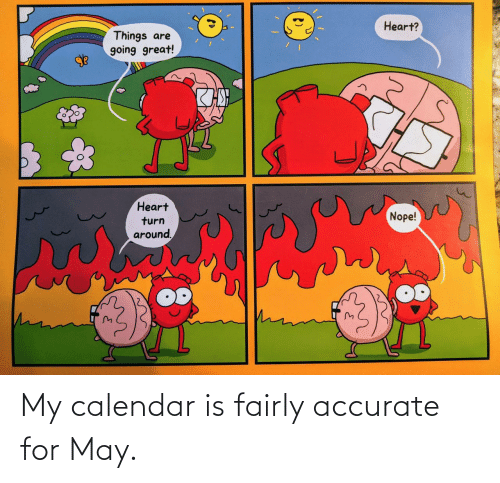 Calendar: My calendar is fairly accurate for May.