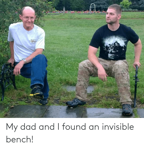Found: My dad and I found an invisible bench!
