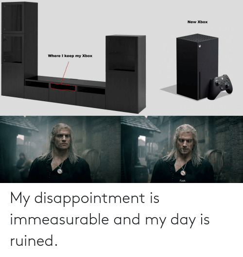day: My disappointment is immeasurable and my day is ruined.