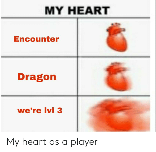 Heart, DnD, and Dragon: MY HEART  Encounter  Dragon  we're Ivl 3 My heart as a player