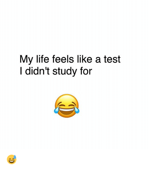 Life, Memes, and Test: My life feels like a test  l didn't study for 😅