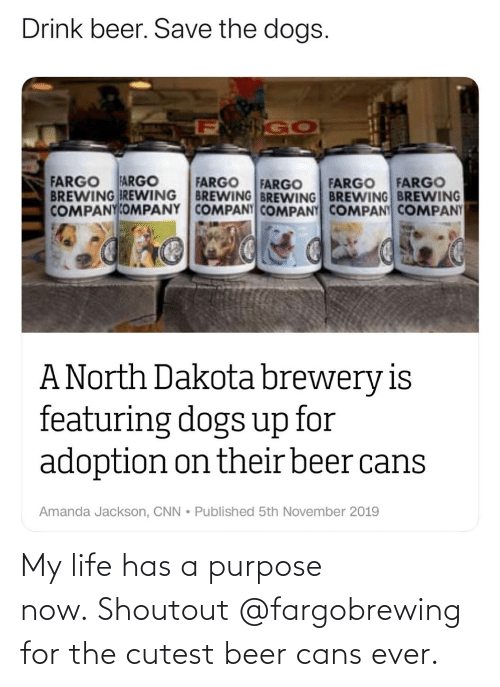 cutest: My life has a purpose now. Shoutout @fargobrewing for the cutest beer cans ever.