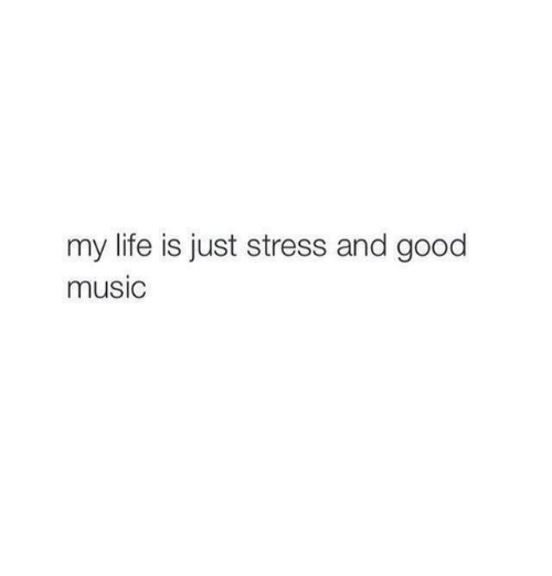 Life, Music, and Good: my life is just stress and good  music