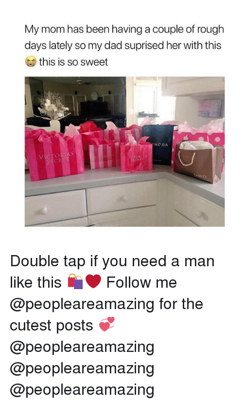Dad, Memes, and Rough: My mom has been having a couple of rough  days lately so my dad suprised her with this  this is so sweet  HORA  RED Double tap if you need a man like this 🛍❤️ Follow me @peopleareamazing for the cutest posts 💞 @peopleareamazing @peopleareamazing @peopleareamazing