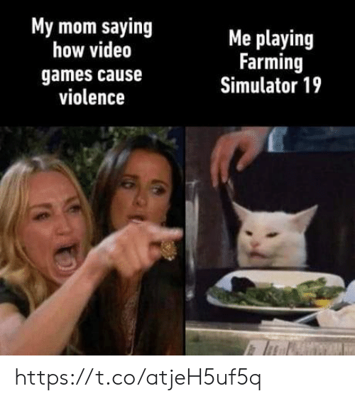 Farming: My mom saying  how video  Me playing  Farming  Simulator 19  games cause  violence https://t.co/atjeH5uf5q