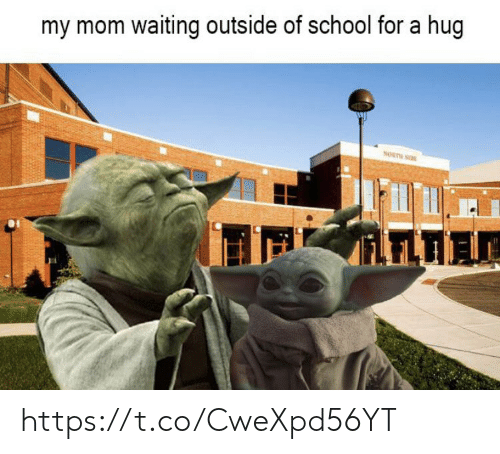 Memes, School, and Waiting...: my mom waiting outside of school for a hug  NORTH SIE https://t.co/CweXpd56YT