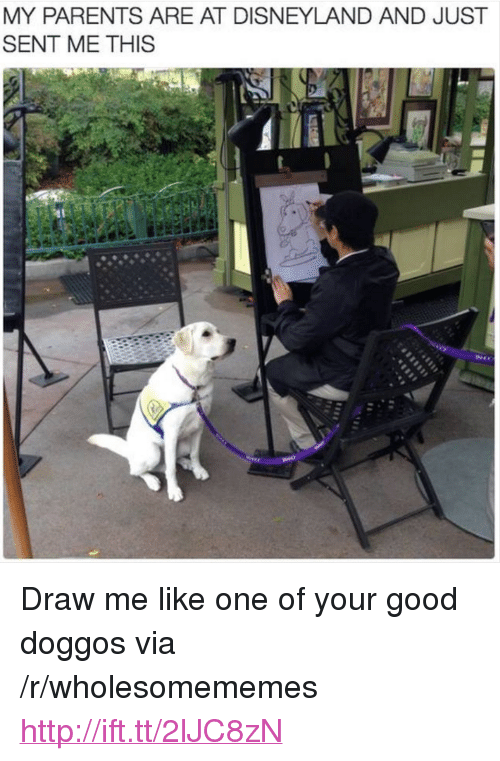 """Draw Me Like One Of Your: MY PARENTS ARE AT DISNEYLAND AND JUST  SENT ME THIS <p>Draw me like one of your good doggos via /r/wholesomememes <a href=""""http://ift.tt/2lJC8zN"""">http://ift.tt/2lJC8zN</a></p>"""