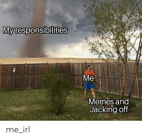 Jacking Off, Memes, and Irl: My responsibilities  Memes and  Jacking off me_irl