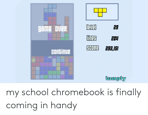 Coming In: my school chromebook is finally coming in handy