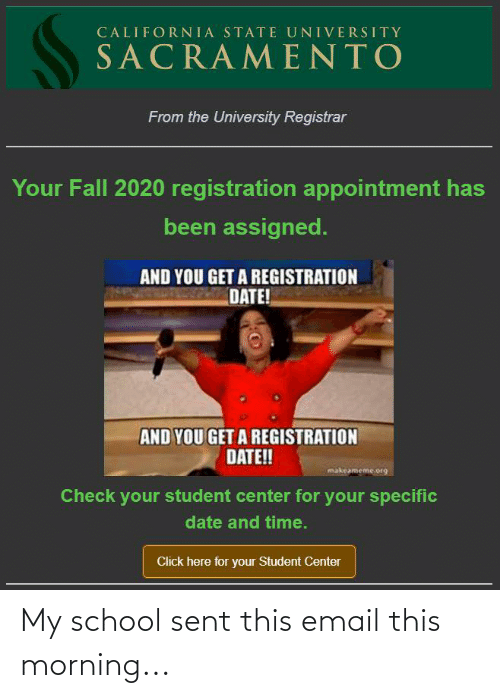 Email: My school sent this email this morning...