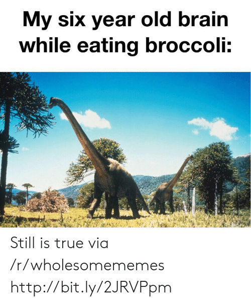 broccoli: My six year old brain  while eating broccoli: Still is true via /r/wholesomememes http://bit.ly/2JRVPpm