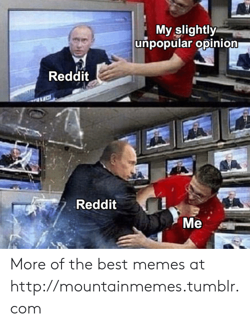 opinion: My slightly  unpopular opinion  Reddit  Reddit  Ме More of the best memes at http://mountainmemes.tumblr.com