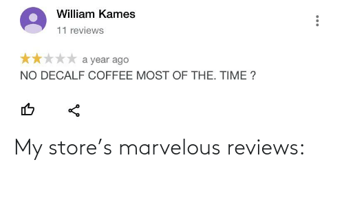 Marvelous: My store's marvelous reviews: