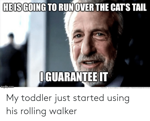 walker: My toddler just started using his rolling walker