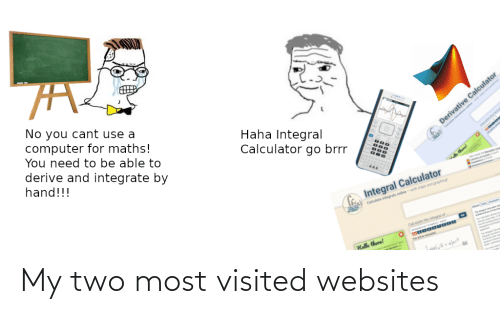 Visited: My two most visited websites