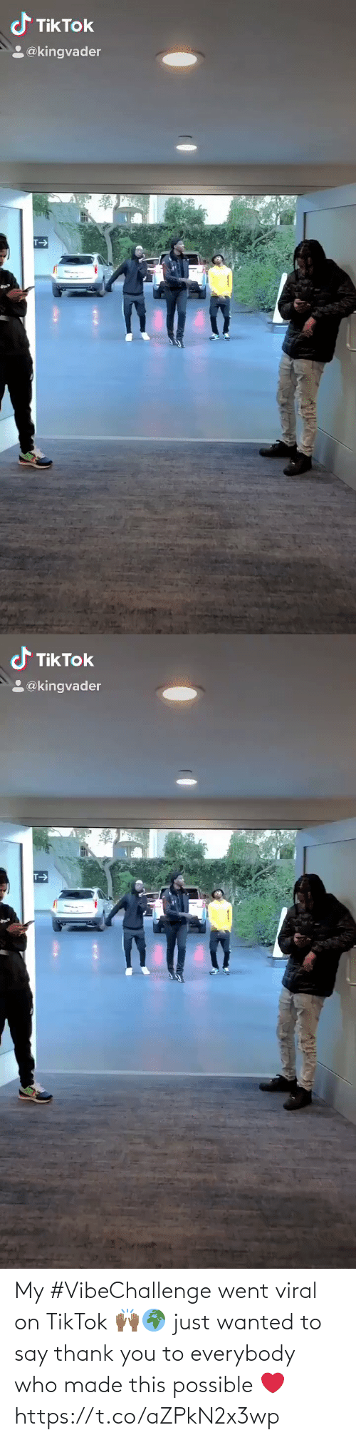 say: My #VibeChallenge went viral on TikTok 🙌🏾🌍 just wanted to say thank you to everybody who made this possible ❤️ https://t.co/aZPkN2x3wp