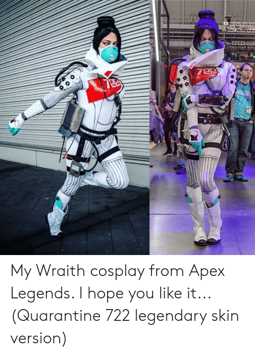 My Wraith Cosplay From Apex Legends I Hope You Like It Quarantine