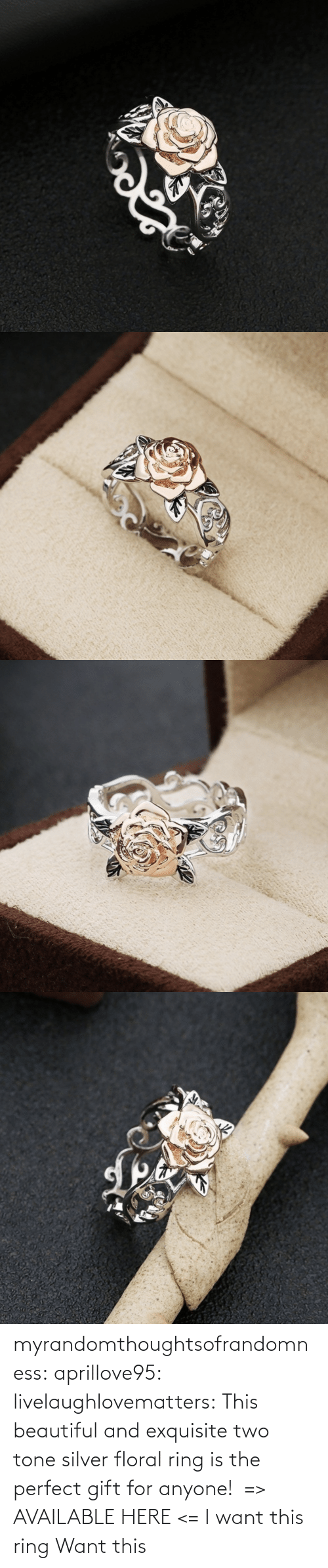 The Perfect: myrandomthoughtsofrandomness:  aprillove95: livelaughlovematters:  This beautiful and exquisite two tone silver floral ring is the perfect gift for anyone! => AVAILABLE HERE <=    I want this ring     Want this